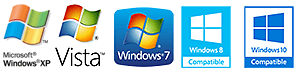 XP, Vista, Windows 7, 8 und 10