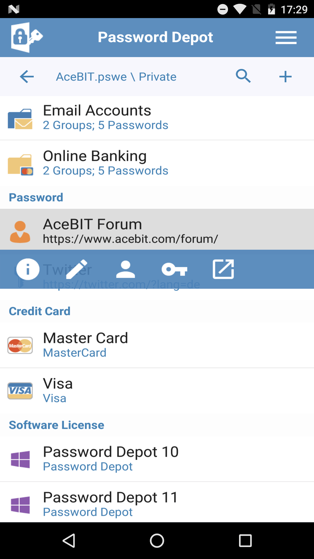acebit password depot forum
